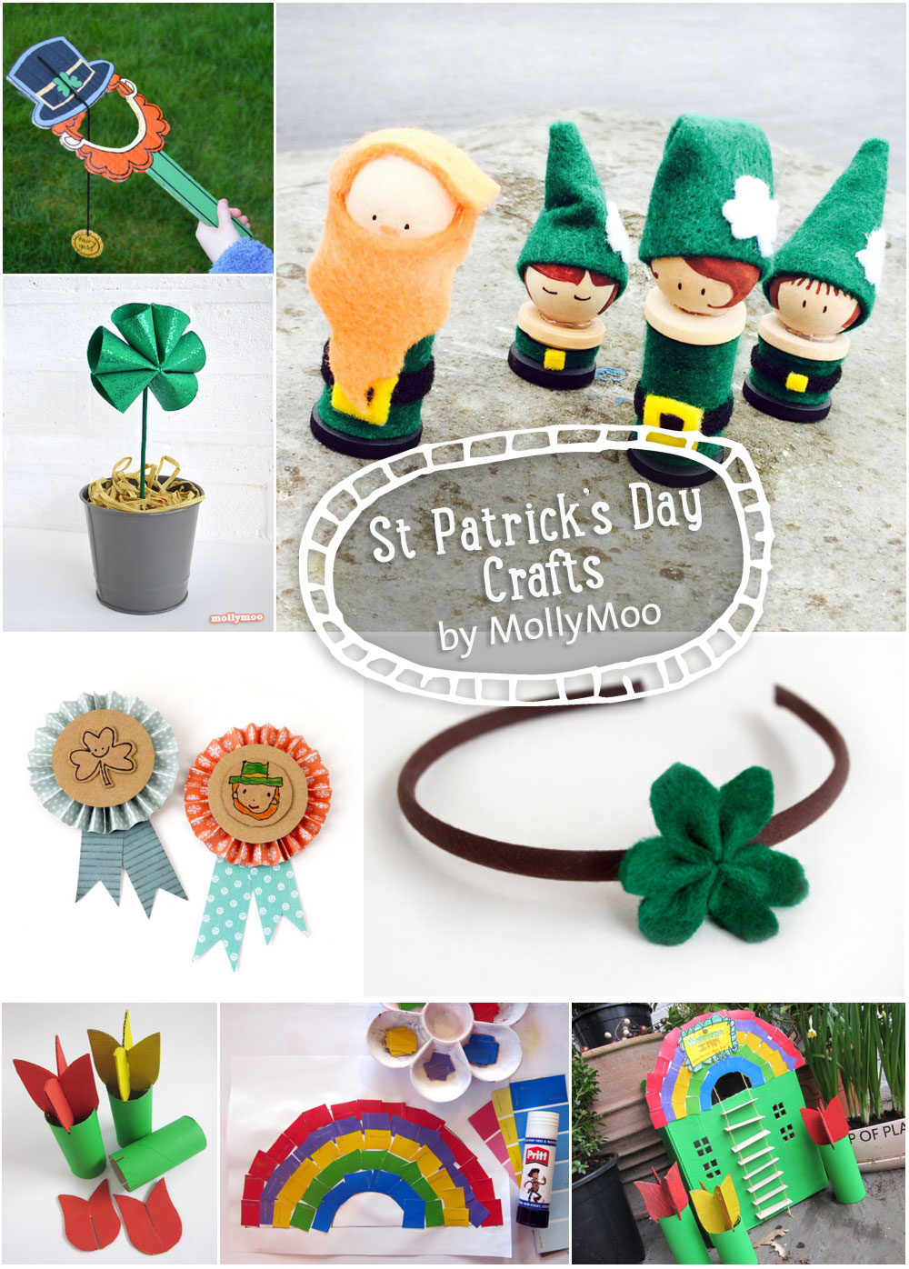 St Patrick's Day Crafts by Michelle McInerney of MollyMoo