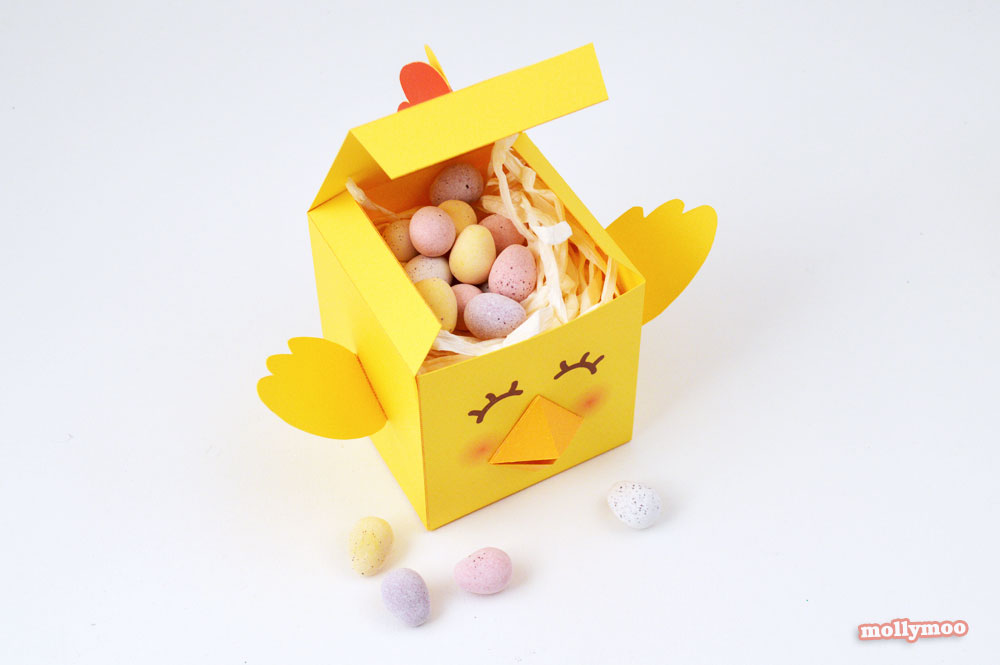free printable easter treat boxes by Michelle McInerney of MollyMoo