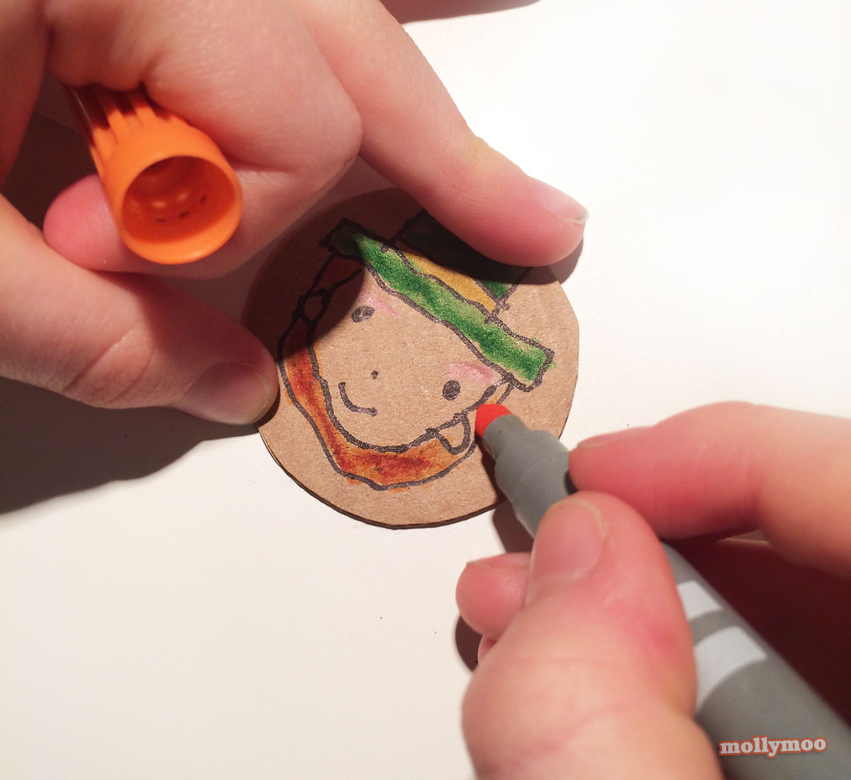 how to make st patrick's day badges