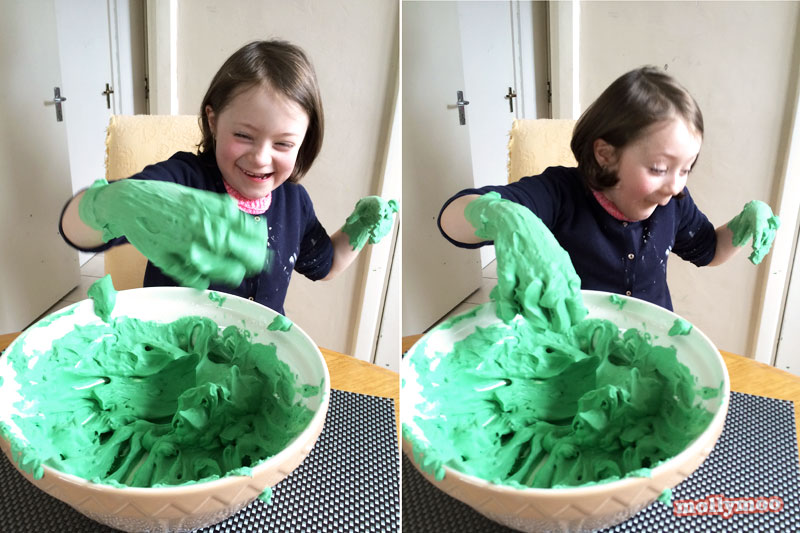 recipes for play, leprechaun slime by Michelle McInerney of MollyMoo