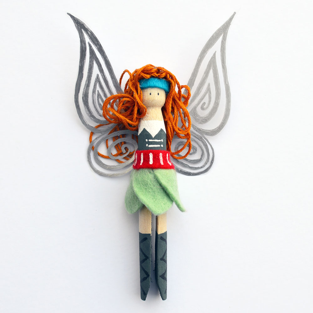 Tinkerbell clothespeg doll craft tutorial