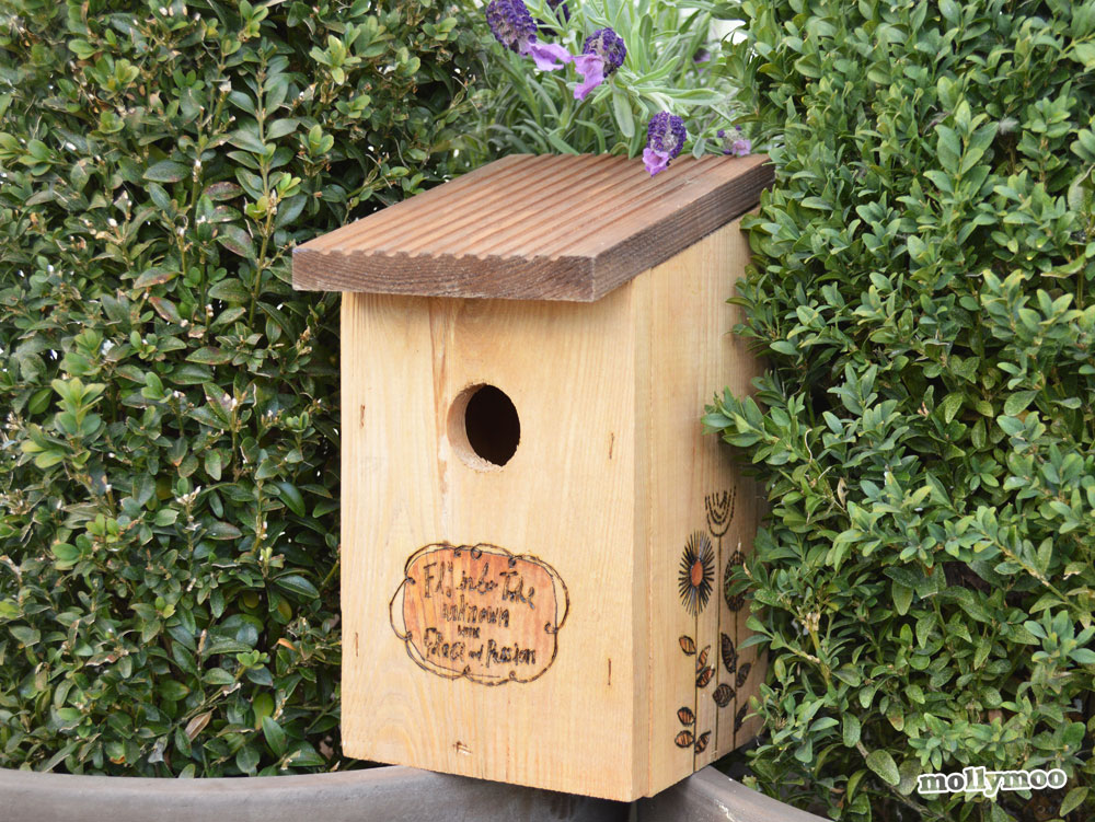 Mollymoocrafts Outdoor Decorating Birdhouse Diy