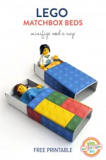 Lego Matchbox Beds – with free printable