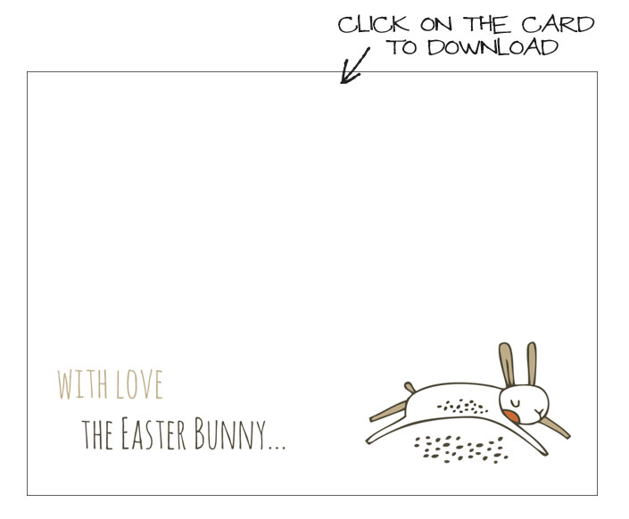 free printable easter bunny note designed by Michelle McInerney MollyMooCrafts.com