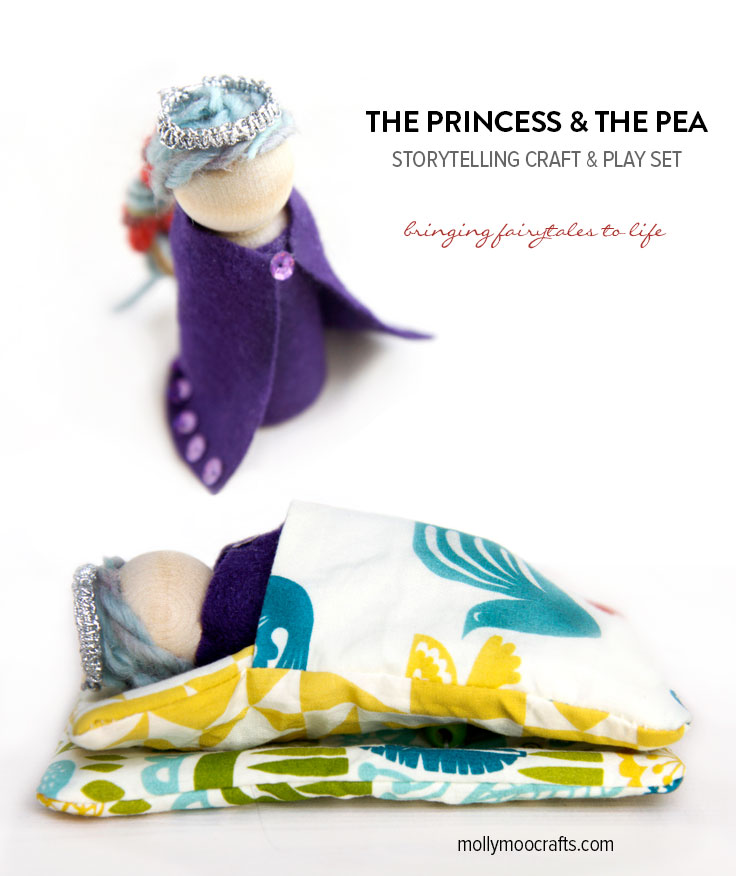 princess and the pea play set craft by Stephanie Stanesby of MollymooCrafts.com