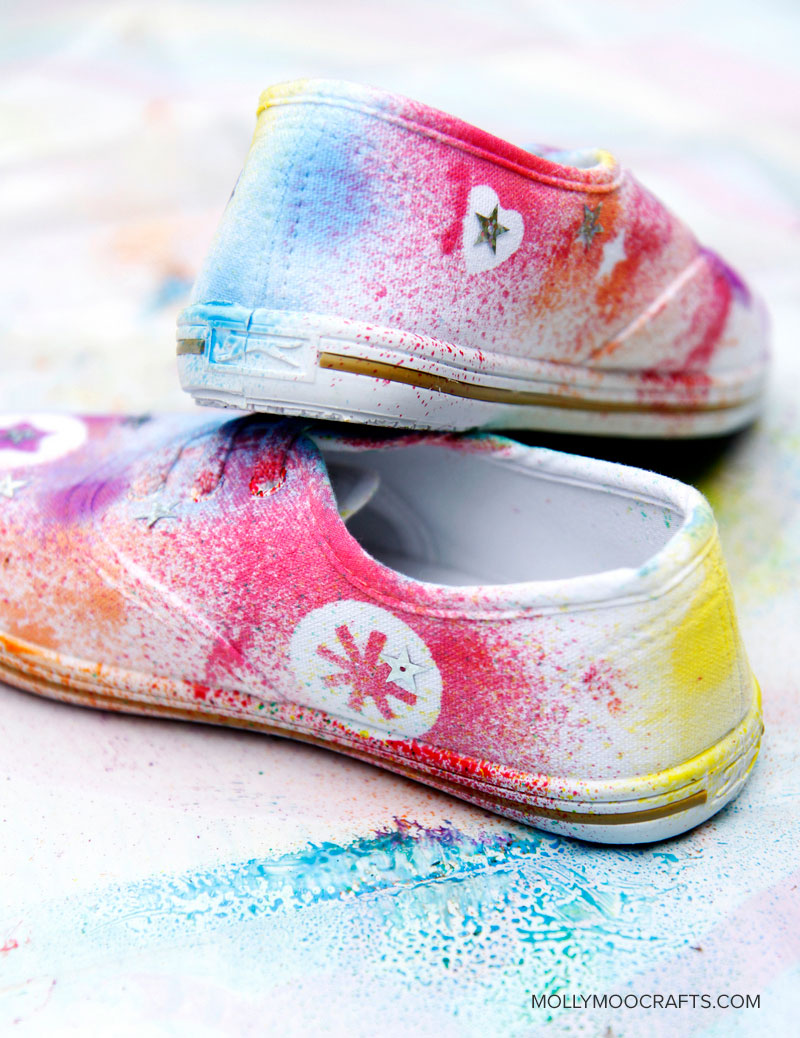 DIY Shoe Decorating For kids