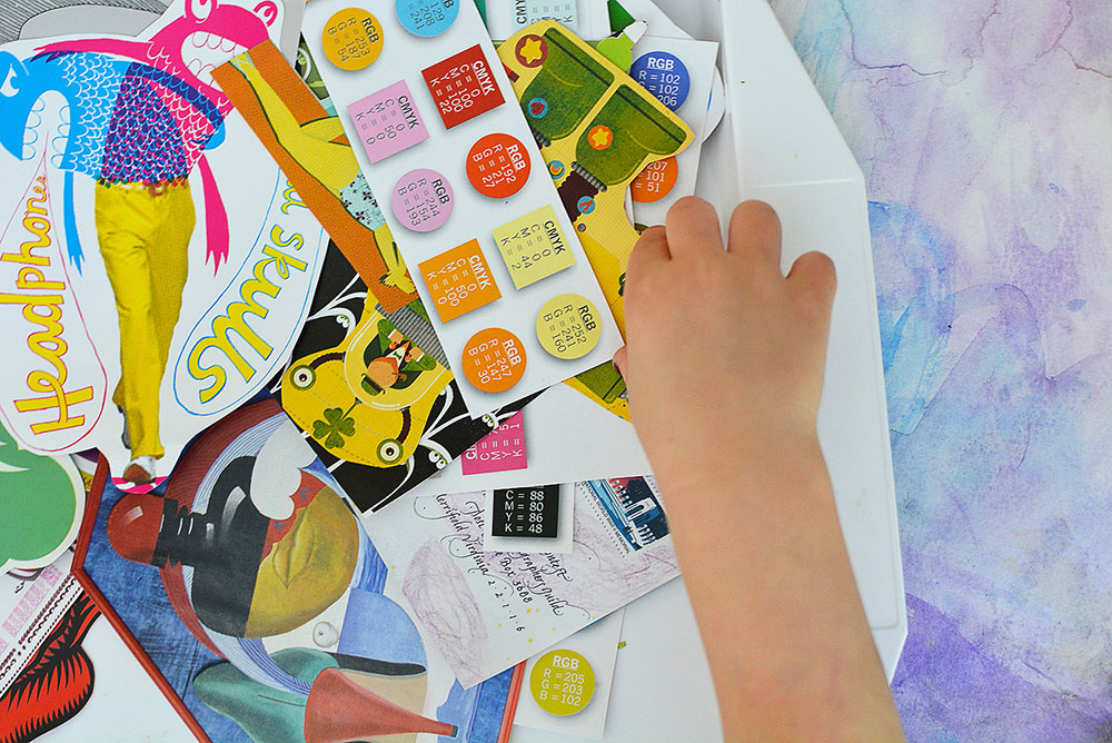 mollymoocrafts fun art project for kids mixed media collage