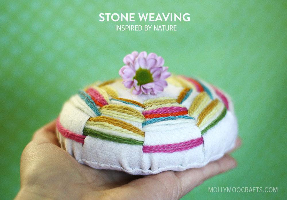 Mollymoocrafts Weaving Crafts Stone Weaving