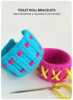 Simple Toilet Roll Crafts: Colour Popping Bracelets