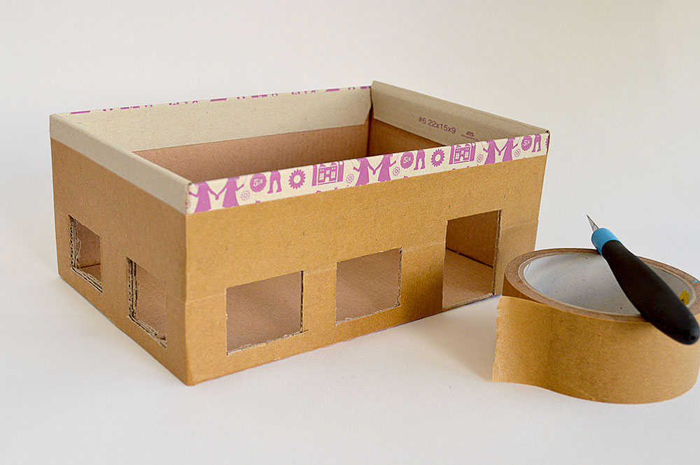 back to school crafts shoebox school