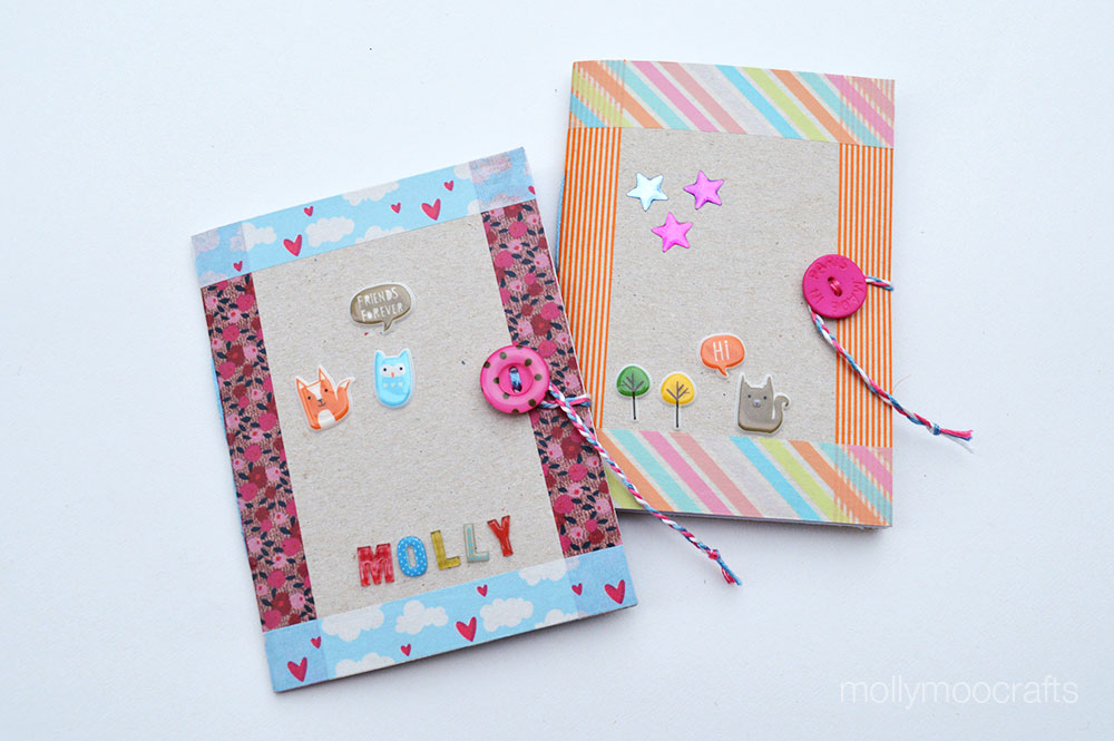 Mollymoocrafts diy cereal box notebook cereal box notebooks for kids ccuart Images