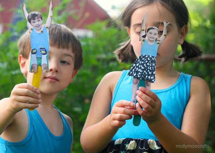 moveable craft stick puppets kids craft
