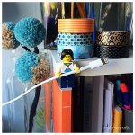 Cute LEGO Hacks – pencil toppers and cable tidy