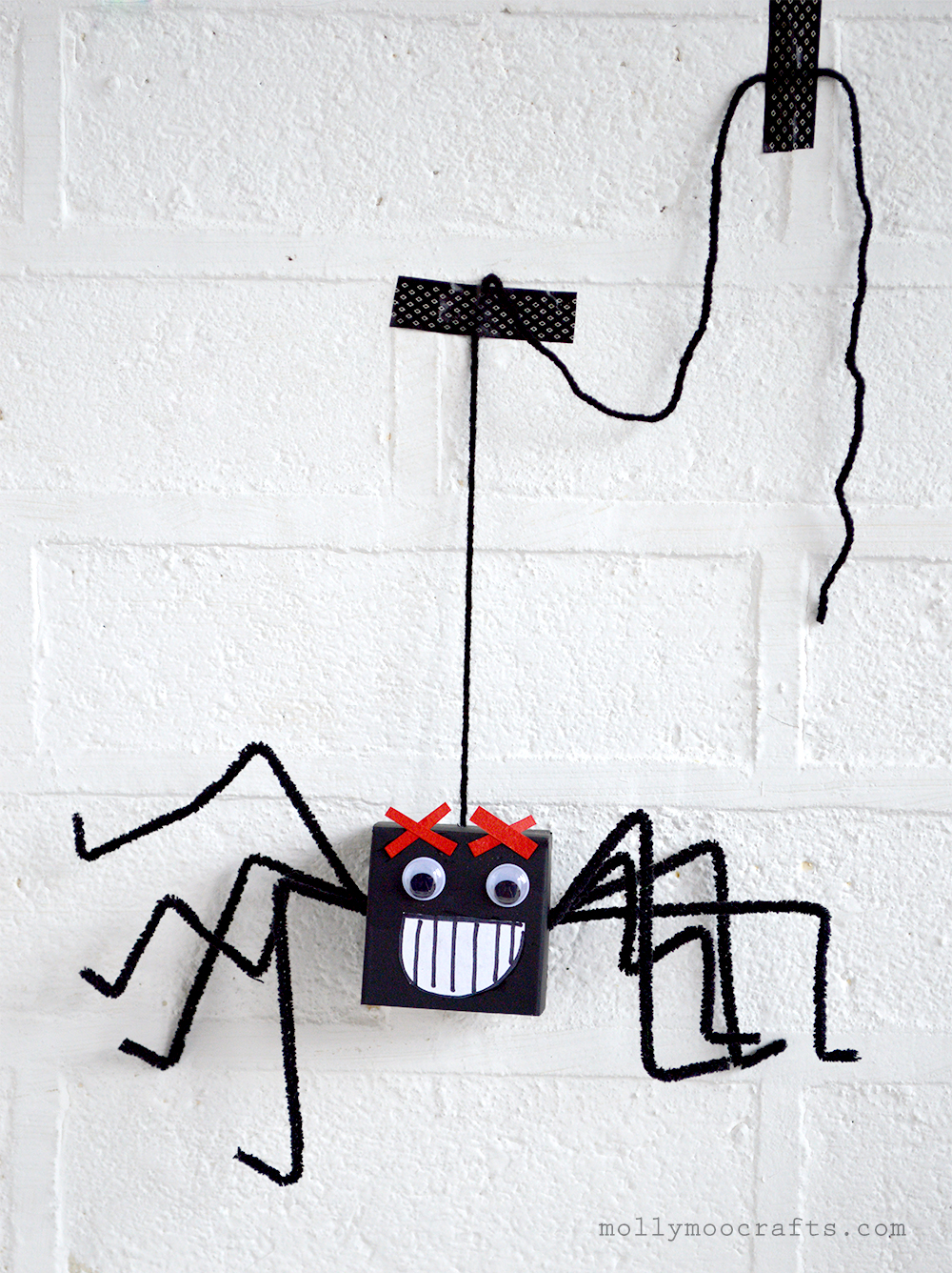 cardboard box spiders craft for kids