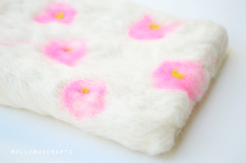 needle felted fairy bedding