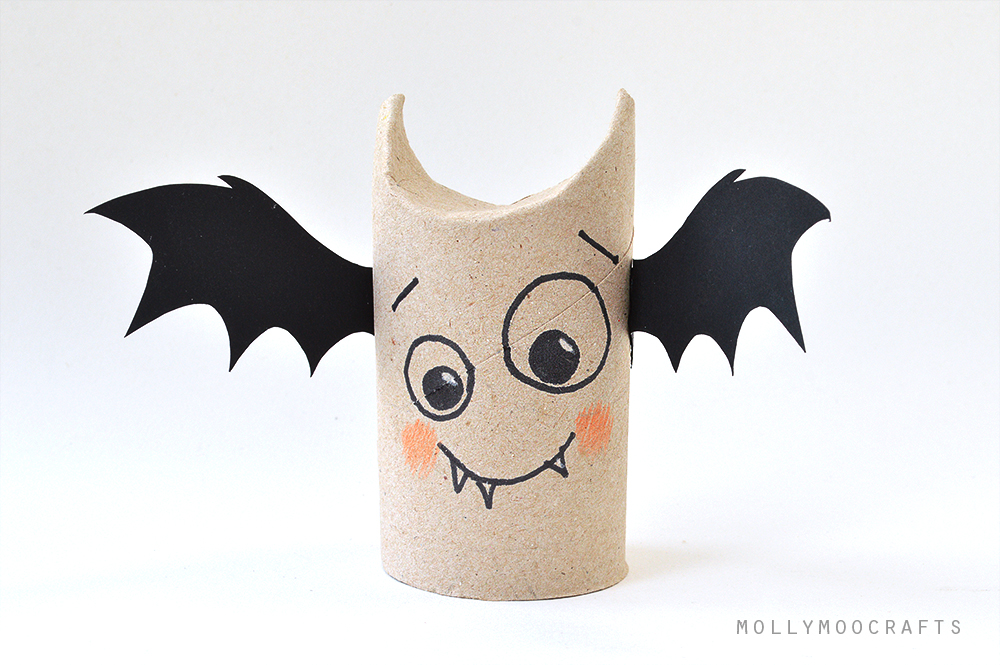 toilet roll bat halloween craft for kids
