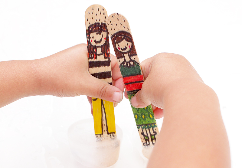 popsicle stick dolls