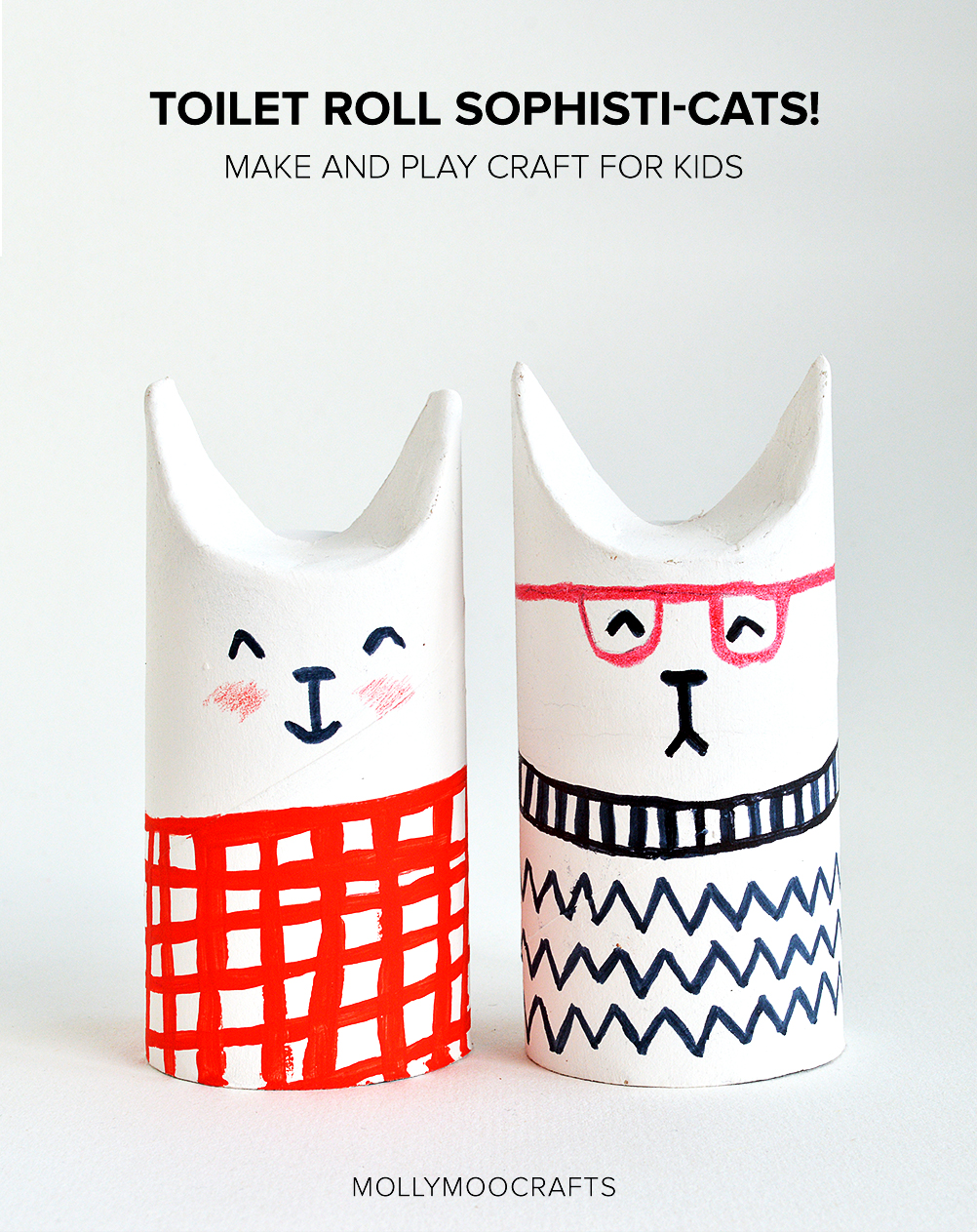 toilet roll crafts cats
