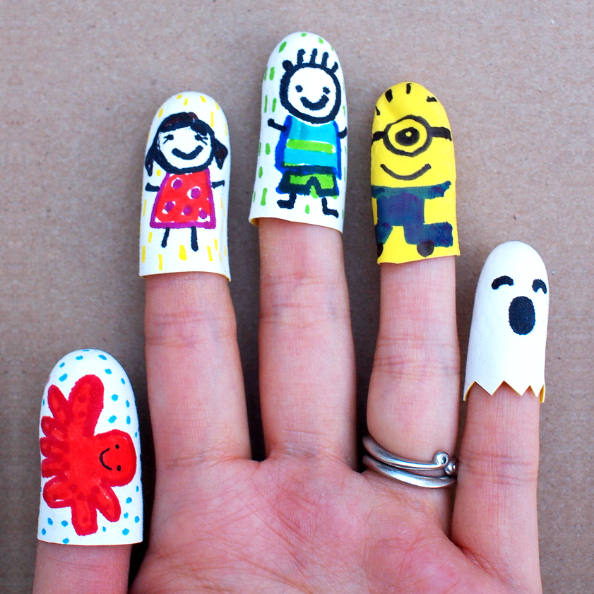 mollymoocrafts super easy finger puppets