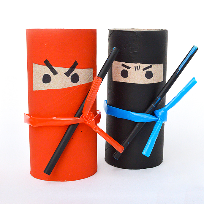 Mollymoocrafts Fun Crafts For Kids Toilet Roll Ninjas