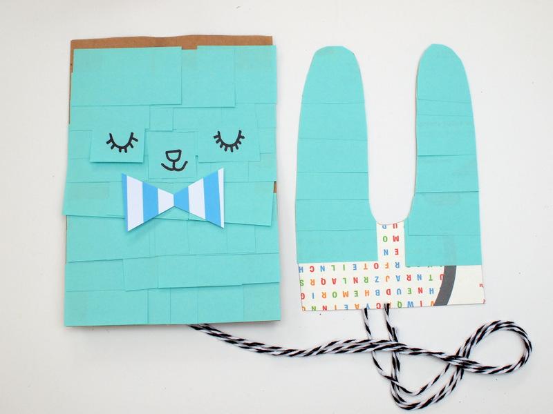 Easter Bunny Paper Bag Pinata