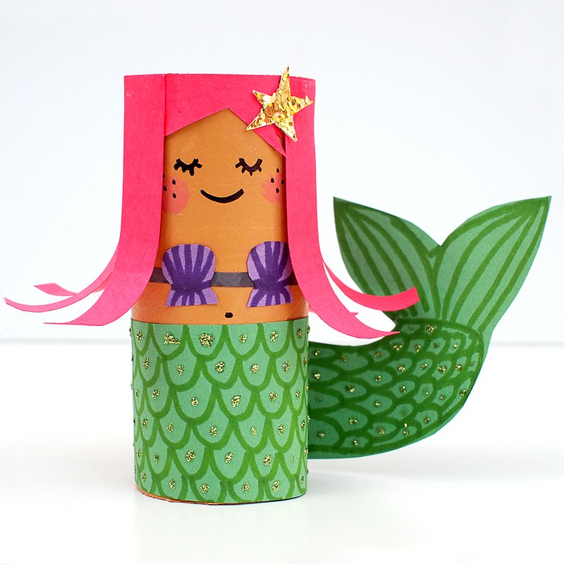 Mollymoocrafts toilet roll crafts hula girl and mermaid for How to make craft