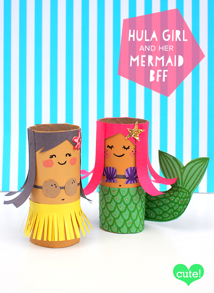 mollymoocrafts toilet roll crafts hula girl and mermaid On crafts to do with toilet paper rolls